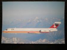 POSTCARD CTA MCDONNEL DOUGALS MD-87 OVER THE SWISS ALPS 7/88