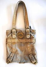 DIESEL Canvas Tote Shoulder Bag Tan CUTE!!