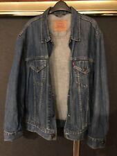 Levi Denim Jacket Blue Wash Vintage Xl Oversized Medium Authentic