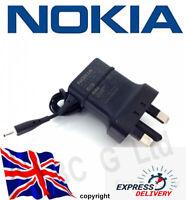 100% Genuine NOKIA  AC-11X Mains Chargers Thin Small PIN, UK Plug, Same day Disp