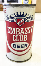 Embassy Club Beer Flat top Can-Chicago, Il