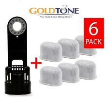 GoldTone 6 Carbon Water Filters + Water Filter Holder fits Keurig & Breville