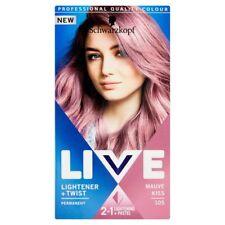 Schwarzkopf Live Lightener And Twist 105 Mauve Kiss Long Last Hair Colour Dye x1
