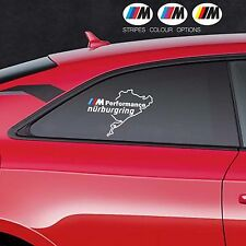 2 x BMW M Performance NURBURGRING M3 M5 Car VINYL STICKER Bumper Window DECAL