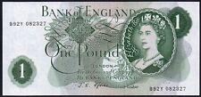 B301 FFORDE 1967 £1 BANKNOTE * B92Y 082327 *  FIRST SERIES * UNC *