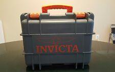 INVICTA TEAL ORANGE 8-SLOT COLLECTORS DIVE WATCH CASE BOX PELICAN STYLE CASE BOX