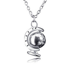 Double Side dome jewelry Vintage Globe Necklace Earth World Map Planet Necklace