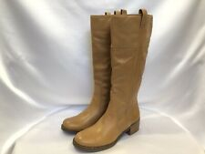 NEW Lucky Brand Hibiscus Riding Boot Tan Leather Knee High Women's Size 9