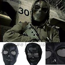 Sports Airsoft Paintball Tactical Full Face Protection Skull Mask CS War Game