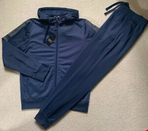 Mens Armani EA7 Tape Logo Poly Tracksuit.100%Authentic Size Small. RSP£180