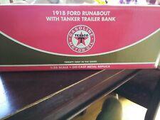 "1918 FORD RUNABOUT w/TANKER TRAILER BANK ""TEXACO"" 1/25th SCALE. NIB"