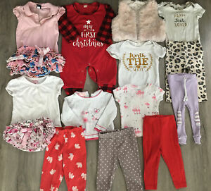 Baby Girl Clothing Lot, 15 Items, 12 Months, Carter's, Kids Headquarters
