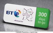 OLYMPIC PINS 2012 LONDON ENGLAND UK BT SPONSOR 300 DAYS TO GO COUNTDOWN