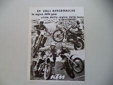 advertising Pubblicità 1977 MOTO KTM e TAIOCCHI/GRITTI/STROSSENREUTHER