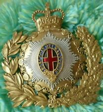 1st Life Guards Cavalry Officer's Helmet Plate Badge 125 mm ANTIQUE - RARE