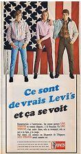 PUBLICITE ADVERTISING 044 1966 LEVI'S STRAUSS jean pantalon