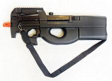 Full Auto Belgium P90 Airsoft SMG Assault Rifle/AEG/Gun/Prop + Many Extras - NEW