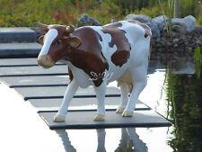 FRIESEN KUH FRIESISCH braun-weiß Garten Deko Tier Figur BAUERNHOF Skulptur NEU