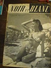 Magazine cinéma noir et blanc spécial festival Canne Martine Carol  pin up 1949