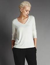 Marks and Spencer Casual Semi Fitted V Neck Women's Tops & Shirts