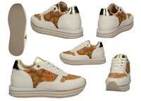 Scarpe da donna Alviero Martini bianche 1a Classe 10560 sneakers casual comode