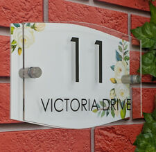 House Number Plaque Personalised Signs Address Street Name Modern Contemporary