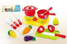 Enfants jeu de rôle cuisson cuisinière jouet 17 pcs jeu set fruits légumes