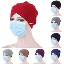 Unisex Surgical Caps Scrub Hat Doctor Nurse Elastic Bonnet Cap Wrap Cover Turban