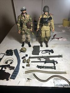 21st century toys wwii 1:6 scale action figure lot screaming eagle w/ german