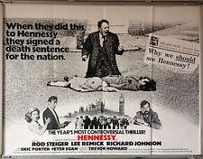 Cinema Poster: HENNESSY 1975 (Main Quad) Rod Steiger Lee Remick Patrick Stewart