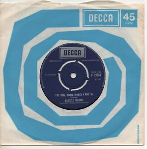 RUSSELL MORRIS the real thing*it's only a matter of time 1969 UK DECCA PSYCH 45