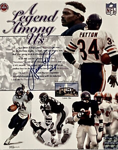 Walter Payton Chicago Bears Signed 8x10 Photo Autographed Payton COA and Holo