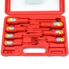 7pc Vde Insulated Electricians Electrical Screwdriver Set Pozi And Flat Headed