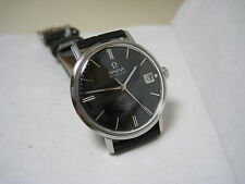 OMEGA SEAMASTER DE VILLE AUTOMATIC DATE BLACK DIAL STAINLESS STEEL 1963 WATCH