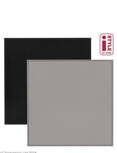 Reversible FAUX LEATHER Placemats & Coasters Set Of 4 FLIP Mat SQUARE BLACK GREY