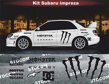 Subaru impreza wrx - kit adhésif décoration autocollant - couleur au choix