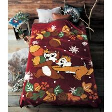 Pooh Mickey Chip Dale Dumbo Lady & the Tramp Blanket Cloth Bed Throw Japan E6916