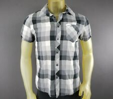 Heritage 1981 Plaid Button Front Small Black & White Shirt Men's Casual A3