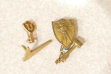 4 Vintage assorted Lapel Pins