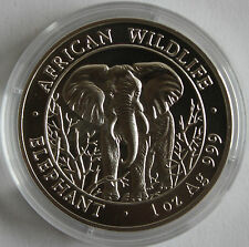 2004 SOMALIA ELEFANT,1 OZ BU/ST SILBER, 39 MM KAPSEL, SELTENER ERSTJAHRGANG!!!