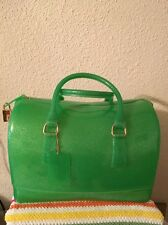 Jelly Candy Bag Satchel Sparkle Glitter Lime Green