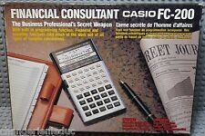 CASIO FC-200 Financial Consultant - Calculatrice Calculator Vintage - Neuf New