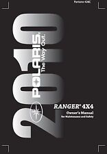 Polaris Owners Manual Book 2010 Ranger 4X4