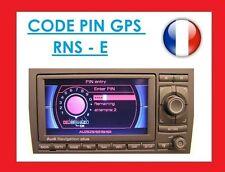 unlock code poste gps double din rns e rns-e audi A3 S3 SDS navigation plus