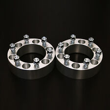 "2pc 2.0"" Wheel Spacers - 6x5.5 to 6x5.5 - 14x1.5 Studs - for Chevy & GMC Trucks"