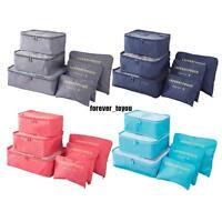 6 PCS Travel Storage Bag Set For Clothes Tidy Organizer Pouch Suitcase