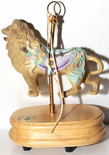1992 Breckenridge Designs Musical Carousel Lion Music Box Plays Carousel Waltz