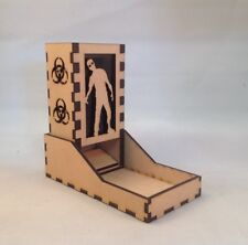 Zombie Dice Tower Smoke Acrylic Window Laser Cut MDF v1