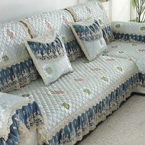 Europe Plush Sofa Cover Room Luxury Slipcover Lace Decor Corner Sofa Cover Towel