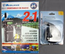 Midland Portable CB Radio 75-822 Portable/Mobile & Truck Spec 18' Antenna Cable